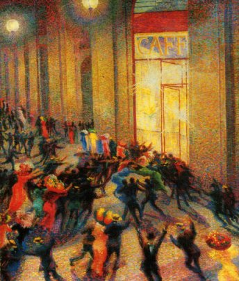 U. Boccioni, Rissa in galleria