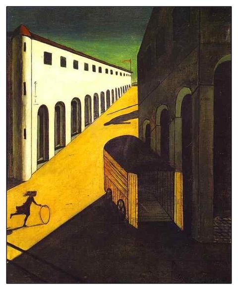 G. De Chirico, Mistero e malinconia d'una strada