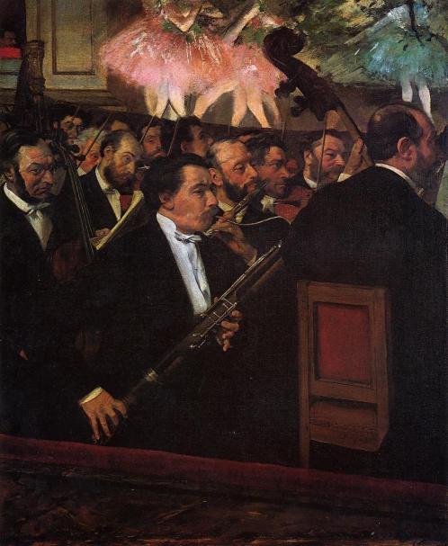Musicisti dell'orchestra, 1870-71, E. Degas
